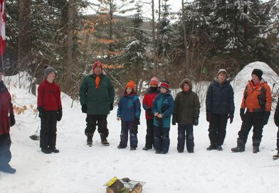 Scouts learn to survive in snow shelters
