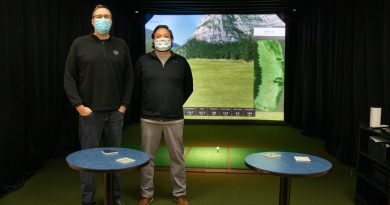 Golf simulator ready for action